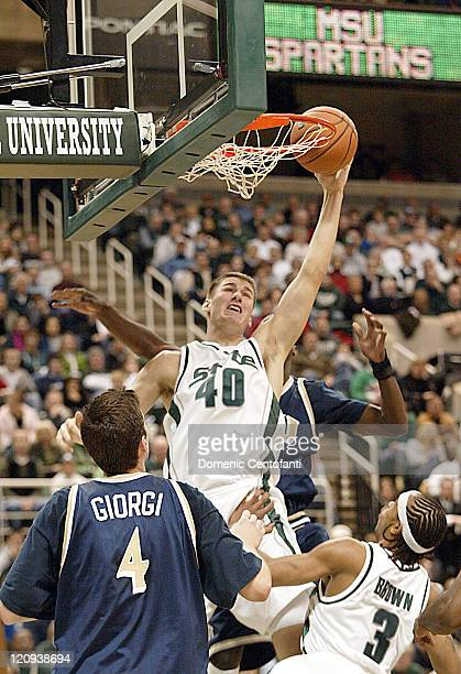 Michigan State's Paul Davis dunks the basketball. Florida Int. Played Michigan State at the Breslin Center on Sunday, December 18, 2005. Michigan...