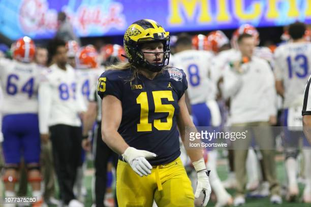Michigan Wolverines defensive lineman Chase Winovich during the Peach Bowl between the Florida Gators and the Michigan Wolverines on December 29 2018...