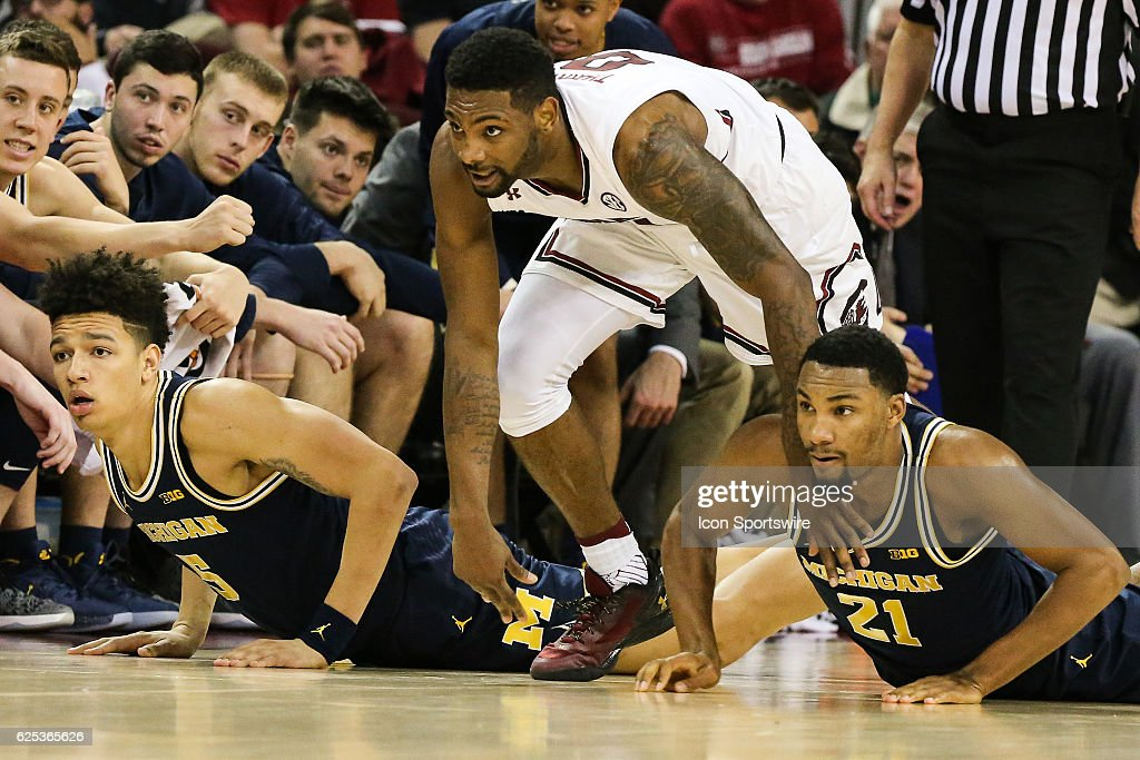 Image result for South Carolina Gamecocks vs. Michigan Wolverines College Basketball
