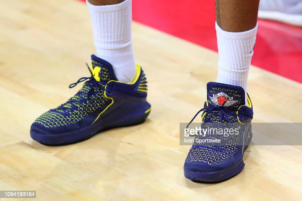 Michigan Wolverines guard Charles Matthews Air Jordan Sneakers during the first half of the College Basketball game between the Rutgers Scarlet...