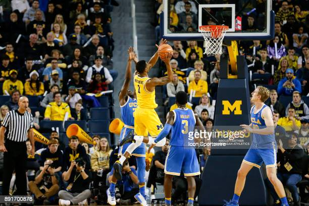 Michigan Wolverines guard Charles Matthews goes in for a layup during a regular season nonconference basketball game between the UCLA Bruins and the...