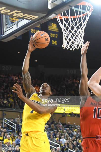 Michigan Wolverines guard Charles Matthews goes in for a layup during the Michigan Wolverines game versus the Maryland Terrapins on Monday January 15...