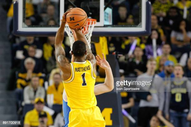Michigan Wolverines guard Charles Matthews shoots a jump shot during a regular season nonconference basketball game between the UCLA Bruins and the...