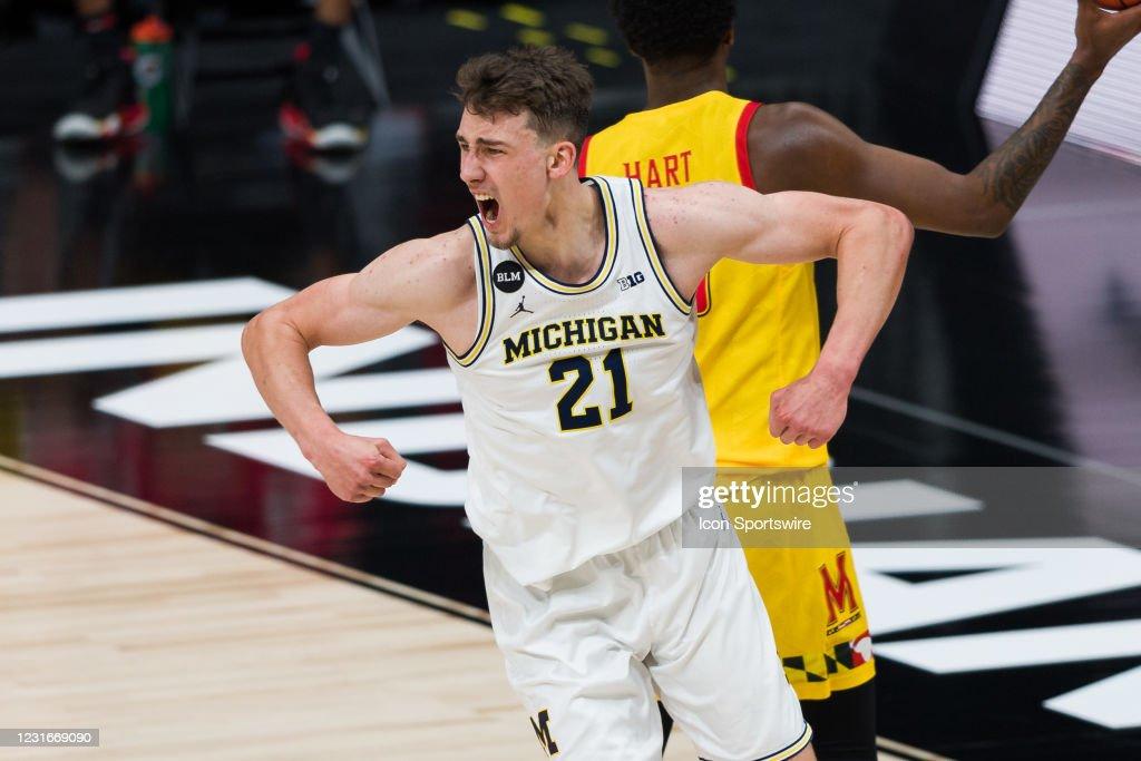 COLLEGE BASKETBALL: MAR 12 Big Ten Tournament - Maryland v Michigan : Fotografía de noticias