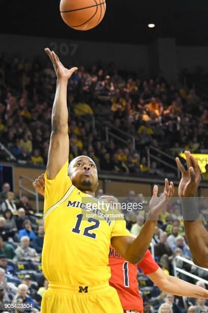 Michigan Wolverines guard MuhammadAli AbdurRahkman hits a layup during the Michigan Wolverines game versus the Maryland Terrapins on Monday January...