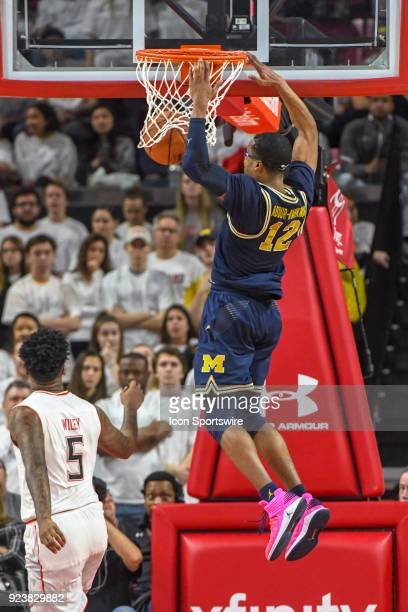 Michigan Wolverines guard MuhammadAli AbdurRahkman scores in the second half on February 24 at Xfinity Center in College Park MD The Michigan...