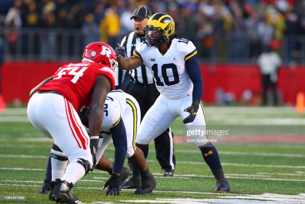 COLLEGE FOOTBALL: NOV 10 Michigan at Rutgers : News Photo