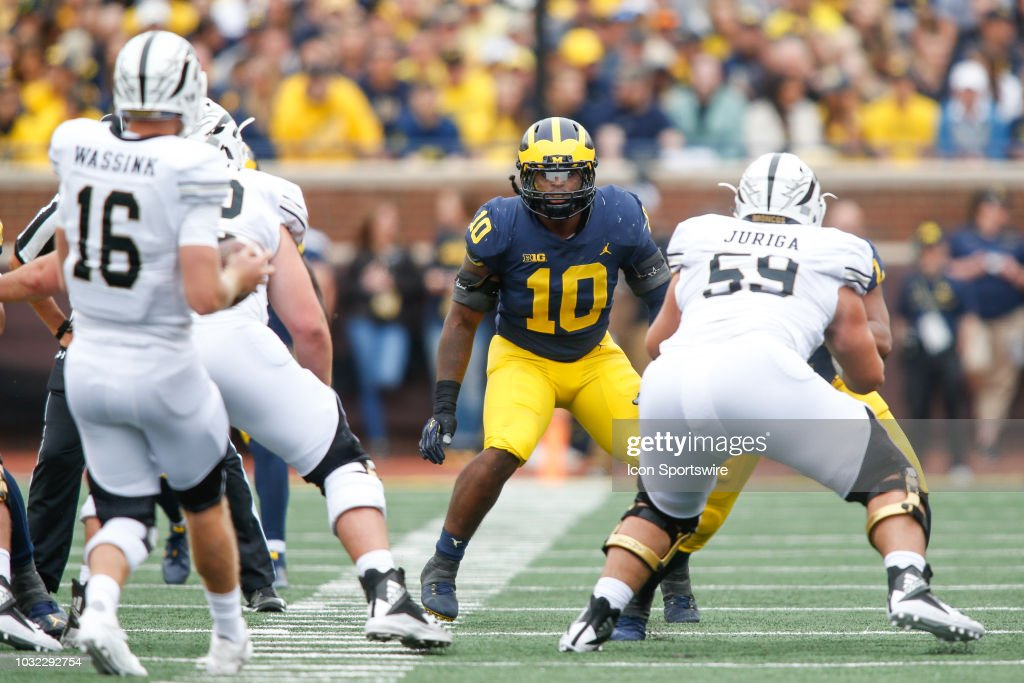 COLLEGE FOOTBALL: SEP 08 Western Michigan at Michigan : News Photo