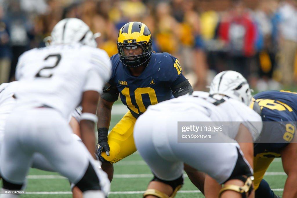 COLLEGE FOOTBALL: SEP 08 Western Michigan at Michigan : News Photo