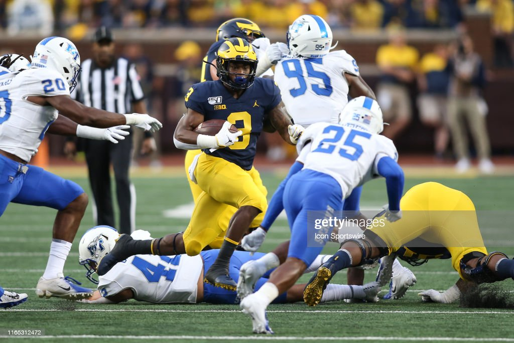 COLLEGE FOOTBALL: AUG 31 Middle Tennessee at Michigan : Foto jornalística
