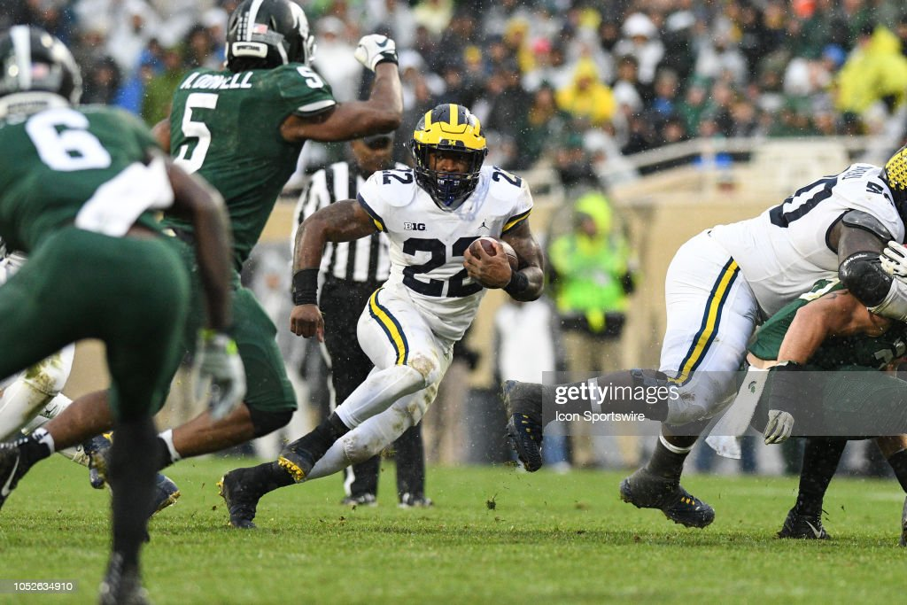 COLLEGE FOOTBALL: OCT 20 Michigan at Michigan State : News Photo