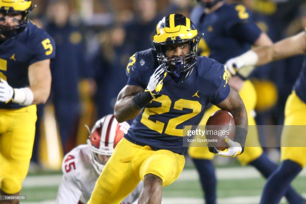 COLLEGE FOOTBALL: NOV 17 Indiana at Michigan : News Photo