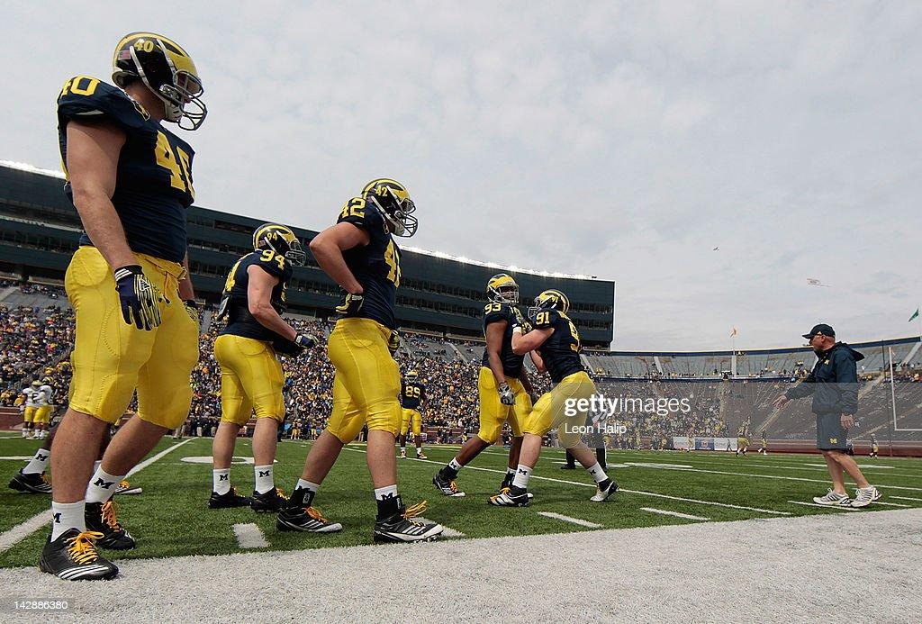 Michigan Spring Football Game : News Photo