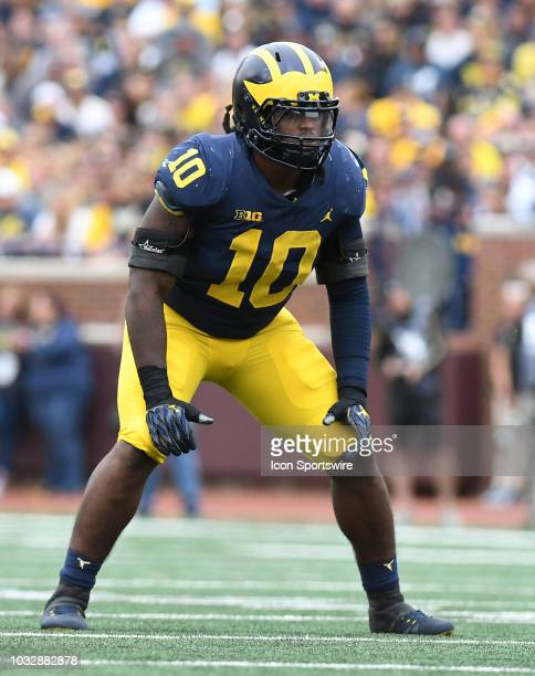 Michigan's Devin Bush in action during the Wolverines' 493 win over Western Michigan University in a college football game Saturday September 8 at...