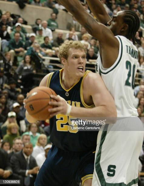 Michigan's Graham Brown goes against Matt Trannon Shannon Brown scored 26 points and No 16 Michigan State remained unbeaten at home with a 9071...