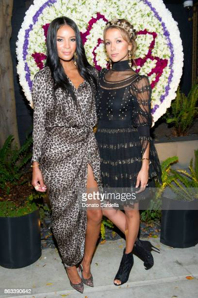 Michiko Harris and Amie Satchu at Living Beauty 'The Gift' Photo Exhibit at The Buterbaugh Gallery on October 19 2017 in Los Angeles California