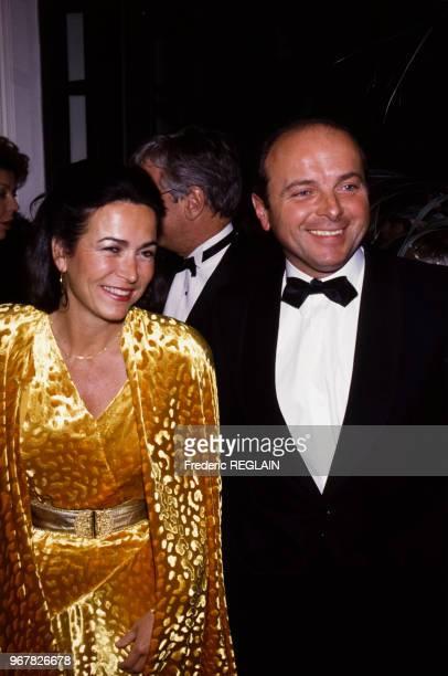 Michèle Barzach et Jacques Toubon lors du 75ème anniversaire de l'Hôpital Américain à Neuilly le 21 janvier 1987 France