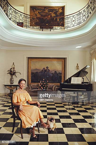 Michèle Bennett First Lady of Haiti poses for a portrait in the Ville D'Accueil Haiti 1981