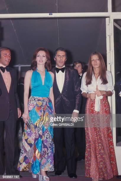 Michèle Mercier et son époux Claude Bourillot lors d'une soirée au Festival de Cannes, circa 1970, France.