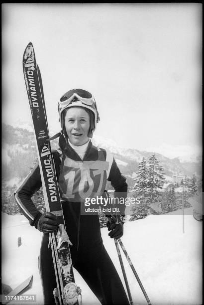 Michèle Rubli skier 1970