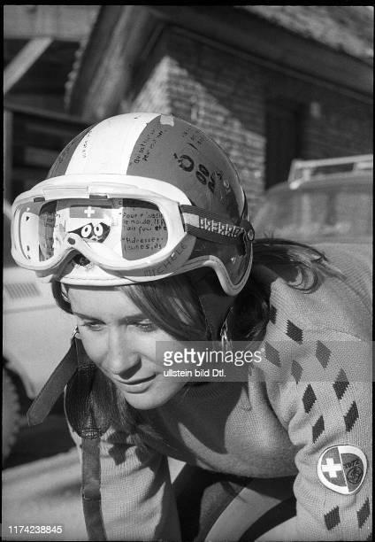 Michèle Rubli skier 1972