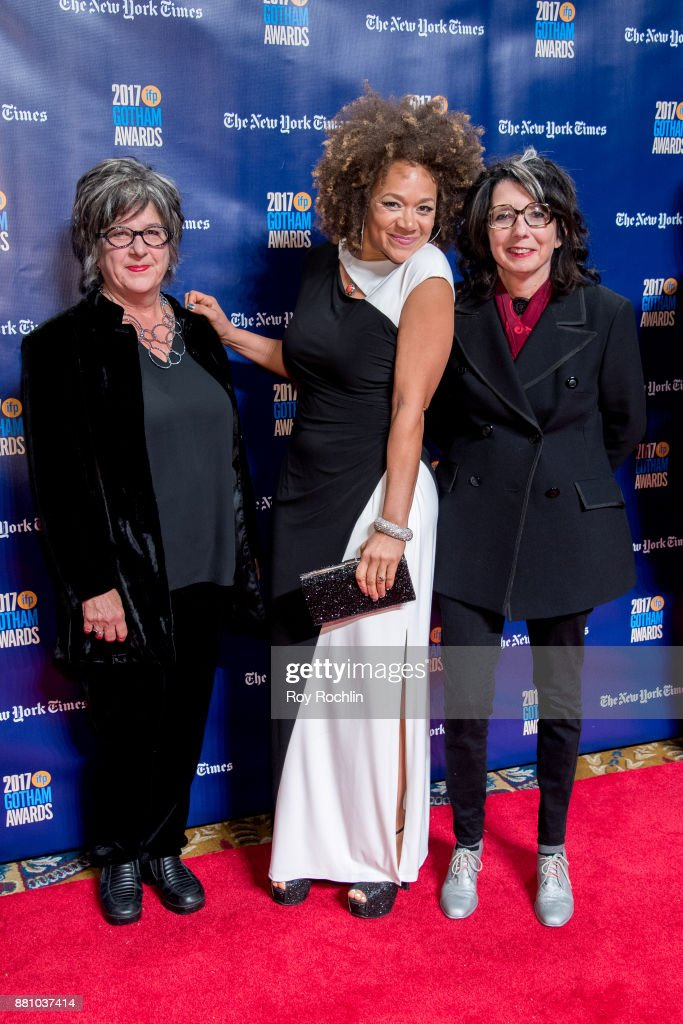 Michole Briana White and Nancy Andrews attend the 2017 IFP Gotham Awards at Cipriani Wall Street on November 27, 2017 in New York City.