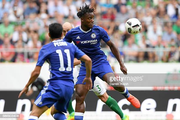 Michy Batschuayi of Chelsea in action during the PreSeason Friendly match between Werder Bremen and Chelsea at Weserstadion on August 7 2016 in...