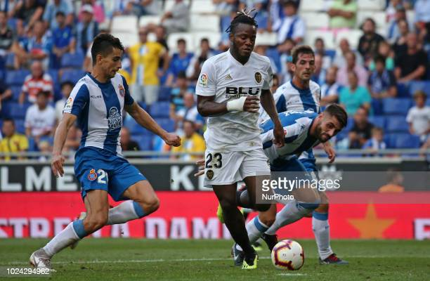 Michy Batshuayi during the match between RCD Espanyol and Valencia CF corresponding to the week 2 of que spanish league played at the RCDE Stadium on...