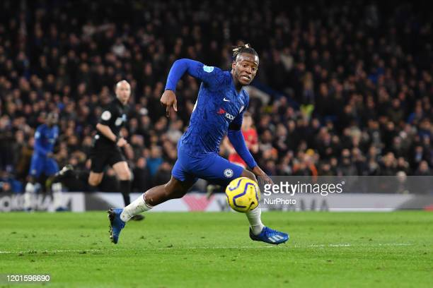 Michy Batshuayi during the Premier League match between Chelsea FC and Manchester United at Stamford Bridge on February 17 2020 in London United...