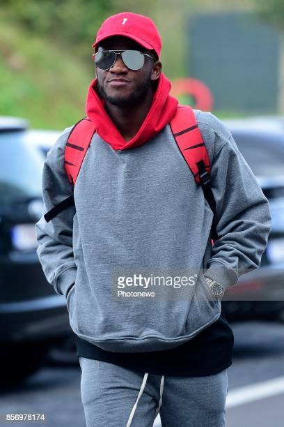 Michy Batshuayi forward of Belgium arrives at the Martin's Red hotel prior to the World Cup 2018 qualification games against Bosnia and Herzegovina...
