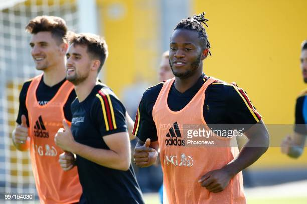 Michy Batshuayi forward of Belgium during a training session as part of the preparation prior to the FIFA 2018 World Cup Russia Playoff for third...