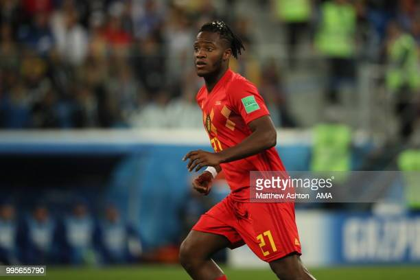 Michy Batshuayi of Belgium during the 2018 FIFA World Cup Russia Semi Final match between Belgium and France at Saint Petersburg Stadium on July 10...