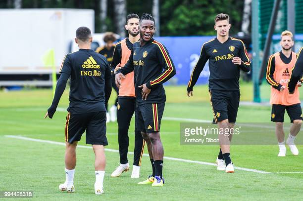 Michy Batshuayi of Belgium during the Training Session of Belgium on July 9 2018 in Moscow Russia