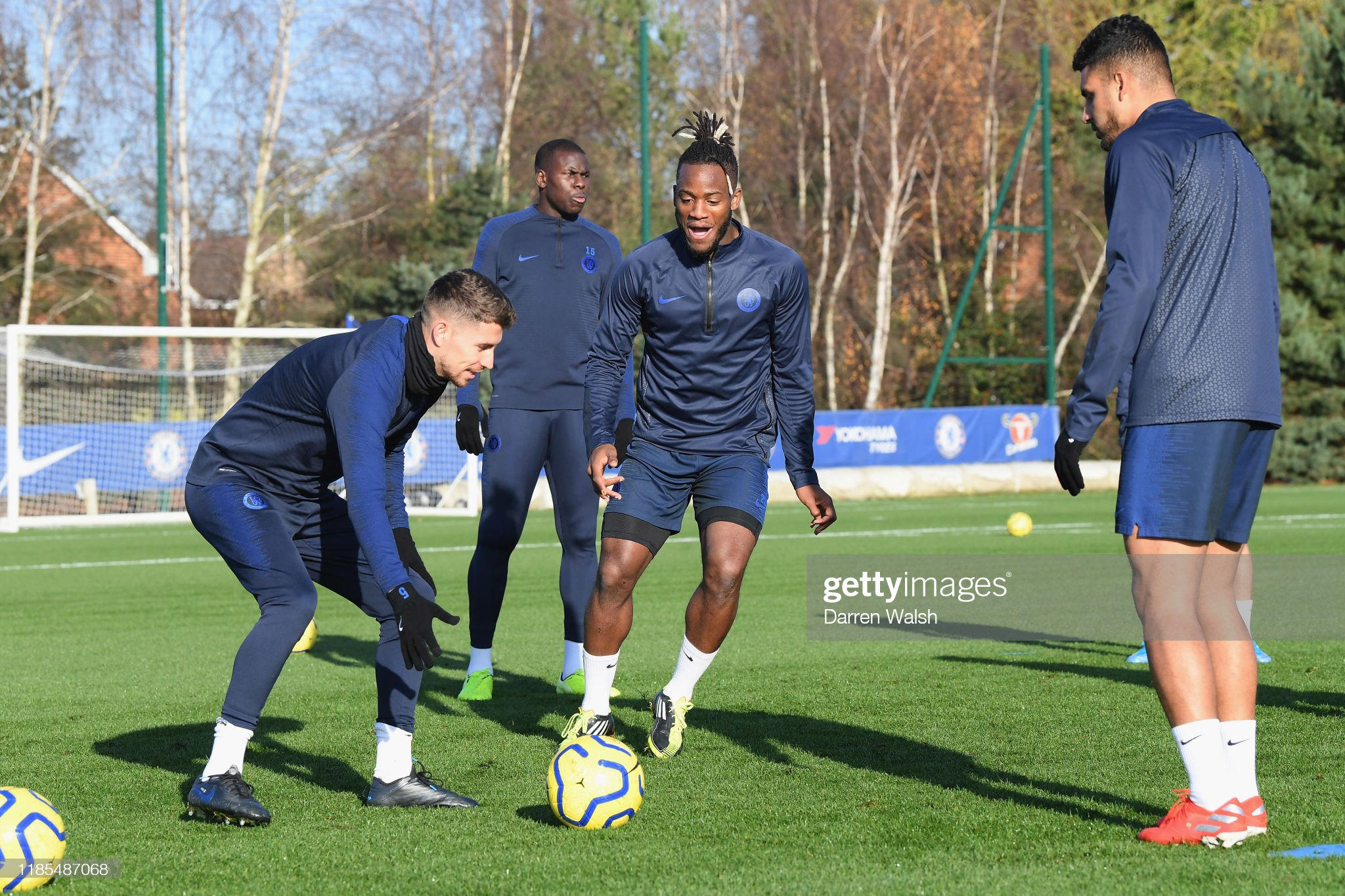 Chelsea Training and Press Conference : News Photo
