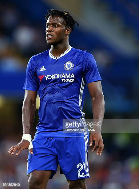 Michy Batshuayi of Chelsea during the EFL Cup match between Chelsea and Bristol Rovers at Stamford Bridge on August 23 2016 in London England