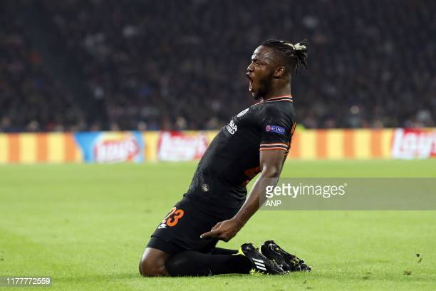 Michy Batshuayi of Chelsea FC during the UEFA Champions League group H match between Ajax Amsterdam and Chelsea FC at the Johan Cruijff Arena on...