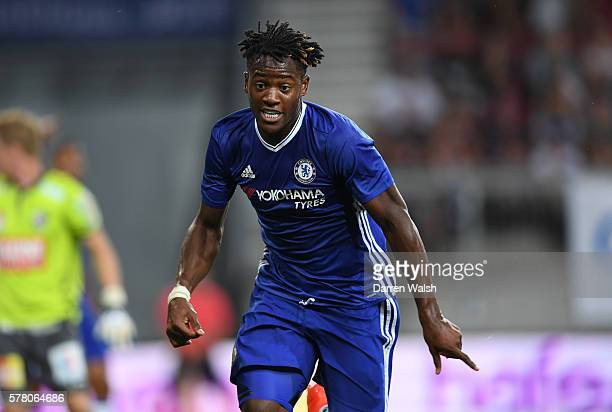 Michy Batshuayi of Chelsea in action during the pre season friendly match between WAC RZ Pellets and Chelsea FC at the Worthersee Stadion on July 20...