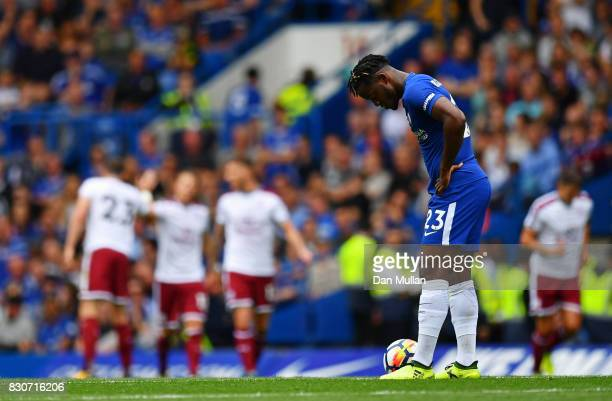 Michy Batshuayi of Chelsea is dejected after Burnley score their first goal during the Premier League match between Chelsea and Burnley at Stamford...