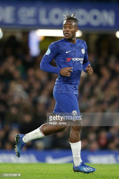 Michy Batshuayi of Chelsea looks on during the Premier League match between Chelsea FC and Manchester United at Stamford Bridge on February 17 2020...