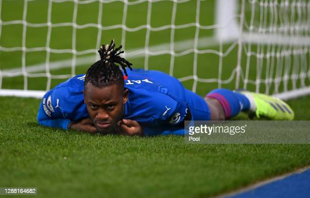 Michy Batshuayi of Crystal Palace looks dejected after missing a chance during the Premier League match between Crystal Palace and Newcastle United...
