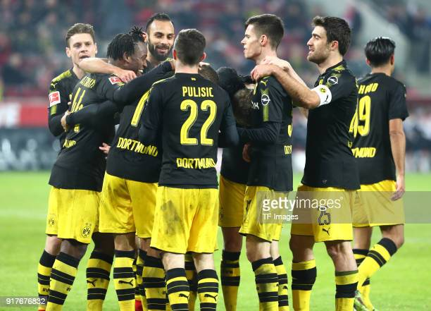 Michy Batshuayi of Dortmund Jeremy Toljan of Dortmund Oemer Toprak of Dortmund Lukasz Piszczek of Dortmund Christian Pulisic of Dortmund and Julian...