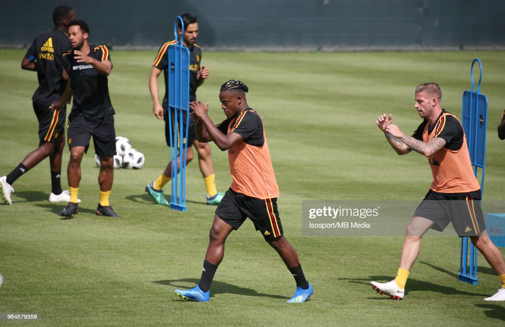 Michy BATSHUAYI pictured during a training session of the Red Devils soccer team at the Belgian National Football Center on May 28, 2018 in Tubize, Belgium. Photo by Vincent Van Doornick - Isosport