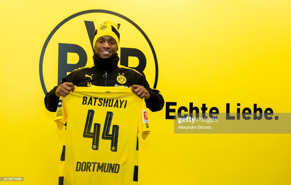 Borussia Dortmund Unveils New Signing Michy Batshuayi