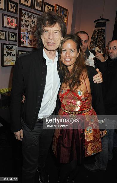 Mick and Jade Jagger attend the Jade Jagger shop opening party on November 25 2009 in London England