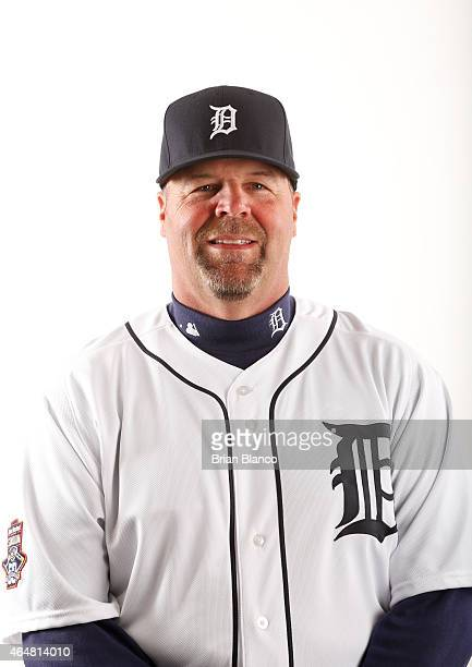 Mick Billmeyer of the Detroit Tigers poses for a photo during the Tigers' photo day on February 28 2015 at Joker Marchant Stadium in Lakeland Florida