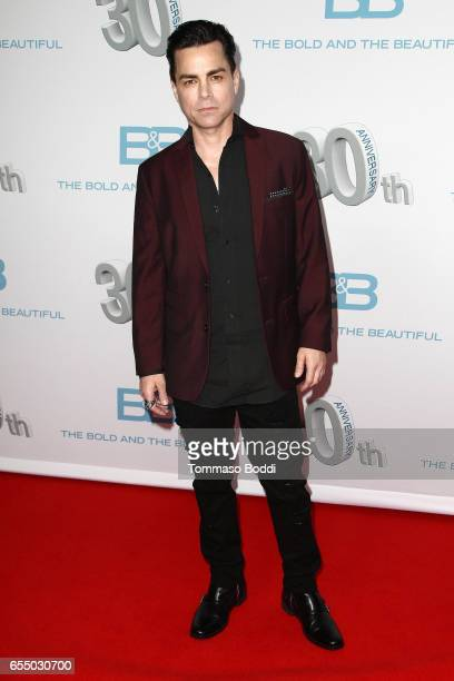 """Mick Cain attends the CBS's """"The Bold And The Beautiful"""" 30th Anniversary Party at Clifton's Cafeteria on March 18, 2017 in Los Angeles, California."""