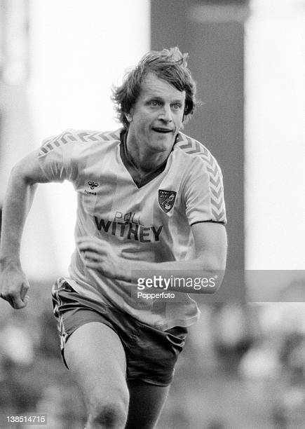 Mick Channon in action for Norwich City during their First Division match against Aston Villa at Villa Park in Birmingham, 20th October 1984. The...