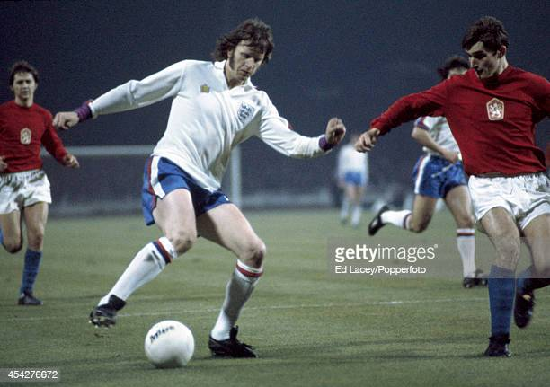Mick Channon of England in action against Czechoslovakia during their European Championship Qualifying match at Wembley Stadium in London on 30th...