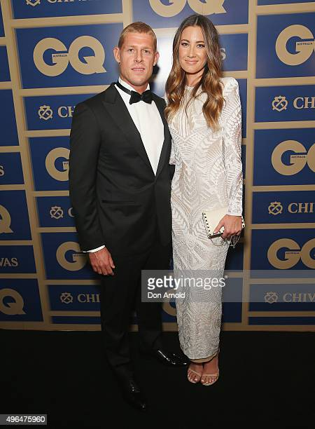 Mick Fanning and Carissa Fanning arrive ahead of the 2015 GQ Men Of The Year Awards on November 10 2015 in Sydney Australia