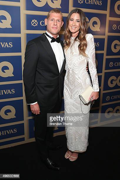 Mick Fanning and Carissa Fanning arrives ahead of the 2015 GQ Men Of The Year Awards on November 10 2015 in Sydney Australia